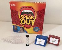 Wholesale Speak Out Game playing cards game the ridiculous mouthpiece challenge game UK and US hasbro gaming