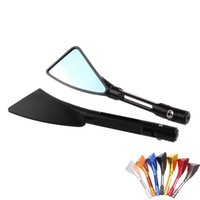 Wholesale 1 Pair Aluminum Modified motorcycle accessories mirror CNC process rearview mirror triangle