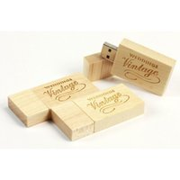 Wholesale Wooden USB Flash Drive USB Real GB GB GB GB Customized Logo Maple USB Flash Drives RLDUSB