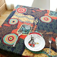 Wholesale National style cotton linen tablecloths Sun flower Linen luxury Europe Endless table cloth