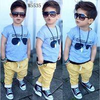 baby apparels - Boys Brand Clothing Sets New Kids Apparels Boy Clothing Set Baby Boys piece Sets T shirts shorts Summer Cotton Clothing
