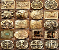Wholesale Retail Men Belt Buckle Copper Dragon Horse Eagle Cross Belt Buckle many styles for choices