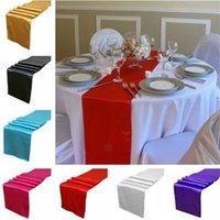 Wholesale rectangle Table Cloths Cloth Wedding Christmas Decoration tablecloth Satin table Runner Runners table Cover banquet holiday Party Decor quot