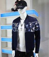 baseball applique jacket - 2016 Chunyan new baseball jacket collar men s thin section printed jacket zipper Korean men s fashion tide