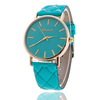 Wholesale women dress geneva watch women rose gold color Fashion Watch women dress watches leather watches