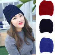 active ear protection - Unisex Male Female Knitted Hat Weaven Beanies Autumn Winter Cap Hip Hop Head Warmer Ear Muff