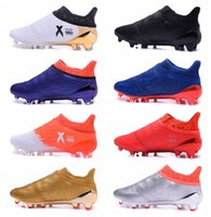 ankle grinding - 2016 Men Football Soccer Shoes X Purechaos Firm Ground Cleats Football Boots Botas De Futbol High Ankle Soccer Cleats FG AG White