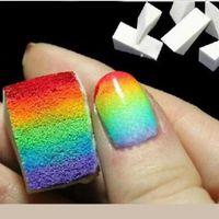 Wholesale 8pcs Gradient Nails Soft Sponge for Color Fade Natural Magic Simple Creative Nail Design Manicure Nail Art Tools