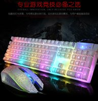 Wholesale Mechanical Keyboard and Mouse Backlit Keyboard Suit Luminous KR700 Internet Cafes Game Keyboard USB Wired Keyboard