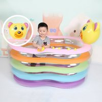 Wholesale Good Quality Inflatable Figure shape Swimming Pool Cartoon Baby Infant Swimming Pool Children Portable Outdoor Swimmingpoo JF0053
