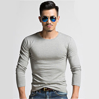 Wholesale 2016 Popular Latest Sports Man Round Neck Long Sleeve Pure Color T Shirts is Qiu Dong Season Running play Mountaineering Sports Equipment