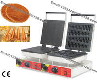 Wholesale Commercial Use Non Stick v v Electric Dutch Stroopwafel Syrop Waffle Maker Lolly Waffle Baker Iron Machine
