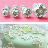 Wholesale 2 sets up the delivery Fondant cake mold bakeware Plum Cutter printing mode daisy stamp size set
