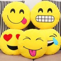 Wholesale Strabism magic creative cartoon funny face QQ face pillow two dimensional expression bag cushion funny doll