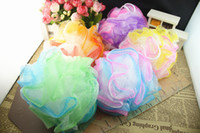 Wholesale Bath Brushes Sponges Scrubbers Colorful Soft and comfortable Bathroom Ball WA0631