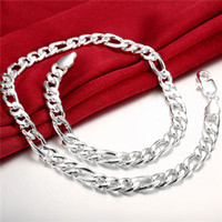 Wholesale Heavy g MM Men s horsewhip necklace sterling silver necklace STSN013 brand new fashion silver Chains necklace factory direct sale