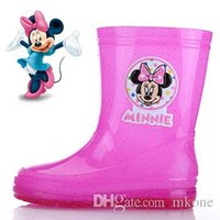 Wholesale Children Shoes Minnie Mouse Girls Rain Boots New Arrival High Quality Hot Sale PVC Promotion Unisex Summer Winter Fashion