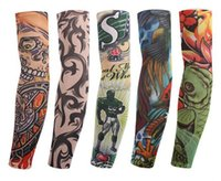 Wholesale Flower Arm Tattoo Sleeves seamless paragraph outdoor riding tattoo seamless sunscreen cuff riding Tattoo Sleeves and flower arm riding sun S