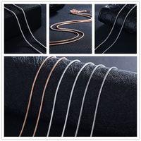 Chaîne de serpent plaqué argent 1mm 20 pouces collier de bijoux collier Accessaries 925 argent / or blanc / or rose XZS-003