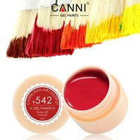 Wholesale Brand CANNI Color Gel Paint Solid Pure Glitter UV Soak Off Gel Builder Gel Nail Art French Tip ml UV LED Paint Nail Gel
