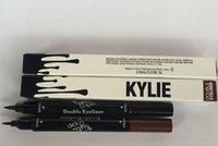 Wholesale 2016 Kylie Jenner Liquid Eyeliner Long lasting Waterproof Black and brown in Eye Liner Pencil Pen Nice Makeup Cosmetic Tools suning