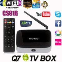 Wholesale Q7 Android TV Box CS918 Full HD P RK3188T Quad Core Media Player GB GB XBMC KODI Wifi better than MXQ M8 MX MS TV Box