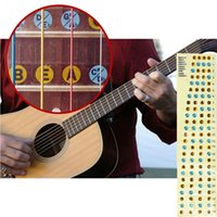 bass guitar notes - Hot Selling set Fretboard Note Labels Fret Stickers For Acoustic Electric Guitar Bass Asoutic Beginner Teaching Learning
