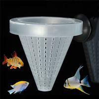 Wholesale Best Price PC Plastic White Funnel Feeder Bloodworm Fish Aquarium Food Pet Feed Sucker Easy To Use x cm