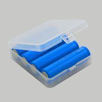 Wholesale Storage Box Plastic Battery Storage Case Battery Box Storage Container Pack Battery Holder Box For E Cig Battery DHL Shipping hole