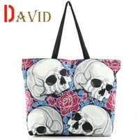 Wholesale Shopping bags skulls printing shoulder bag famous designer brands high quality tote bag luxury handbags women bags designer
