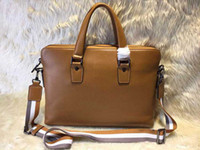 Wholesale new famous designer genuine leather BRIEFCASE Businessman Bags Casual bag for male