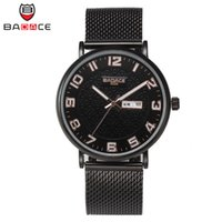 arrival battery cases - Luxury New Arrival High Quality Watch Silver Mesh Band Round Case Complete Calendar BADACE Quartz Watches