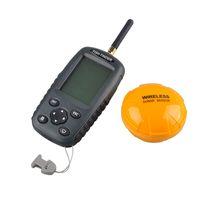 Wholesale FF998 Fish finder Upgrade Russian menu Rechargeable Waterpoof Wireless Fishfinder Sensor KHz Sonar Echo Sounder