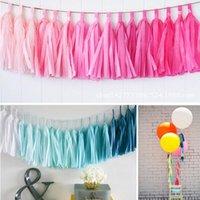 banner kit - x Tissue Tassel Garland Paper Banner Party Supplies DIY kits Wedding Bunting Nursery Decor Baby Shower