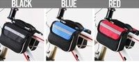 Wholesale Bicycle saddle tube on the package bag mountain front bag with cell phone Riding bike equipment accessories