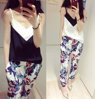 Wholesale new summer V is gotten black and white hit condole belt straight chiffon vest quot women in summer