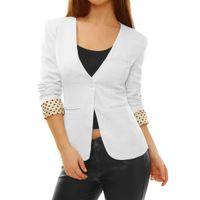 apparel career - Women s Suits Blazers Pockets Single Button Deep V Neck Casual Career Jacket Chuvivi Unique Fashion Apparel