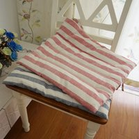Wholesale Navy wind fresh MUJI Japanese tatami cushion cushion cotton slip thin section lace cushion portable seat cushion summer office