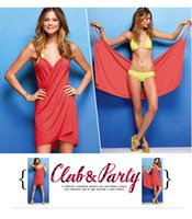 bath wraps with straps - Wearable Beach Towel Bath Towel Large Size cm With Straps Bikini Cover Ups beach Wrap Bathrobe DL90203
