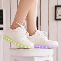 adult shoe soles - 2016 Women Colorful glowing shoes with lights up led luminous shoes a new simulation sole led shoes for adults generation delivery