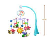 Wholesale New Stylish Educational Baby Toys For Months Hand Bed Crib Musical Hanging Rotate Bell Ring Rattle Mobile PC New