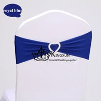 Wholesale Royal Blue Color Lycra Chair Band For Many Chair Cover With Buckle