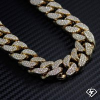 big bold necklaces - XL Men Big Bold k Yellow Gold Finish Miami Cuban Link Iced Out Chain mm quot