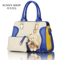 alligator toys - SUNNY SHOP European American fashion casual alligator Women Handbag patent leather PU shoulder bags with purse bear toy