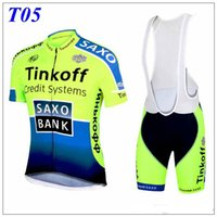 banks sleeve designs - 2016 Fashion Design Cycling Jerseys Tinkoff Saxo Bank Green Red Yellow Short Sleeve With Cool Padded Bib Trouseres Summer Compressed Skinsui