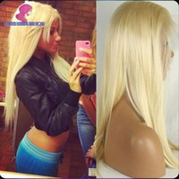 Straight blonde full lace wigs - BLeach Blonde Human Hair Straight Glueless Full Lace Wigs Baby Hair Around Brazilian Human Hair Wigs In Stock