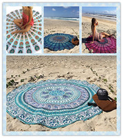 Wholesale 15 Designs Round Beach Towel Mandala Round Beach Throw Indian Traditional Tapestry Hippie Tablecloth Round Yoga Mat