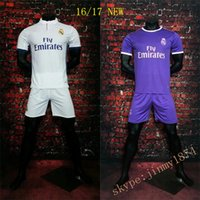 Wholesale Best thai quality Madrid Jersey Soccer real Ronaldo Bale James Kroos Benzema Rugdy Soccer uniform