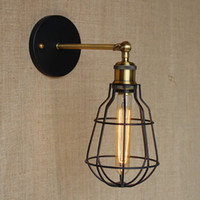 antique lamp wire - new design fashion antique reto swing arm wall lamp with wire ball for workroom bedside bedroom illumination sconce