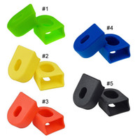 Wholesale High Quality Pair Colors Mountain Bikes MTB Road Bicycle Cycling Crankset Silicone Crank Protective Sleeve Cover Parts